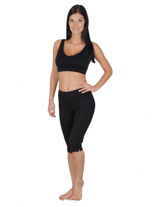 Kalhoty dámské capri 136 DZIANEL | černá | velkoobchod HOTEX