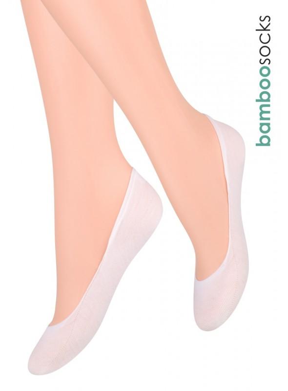 Dámské balerínky ponožky 029 STEVEN   bílá   velkoobchod HOTEX