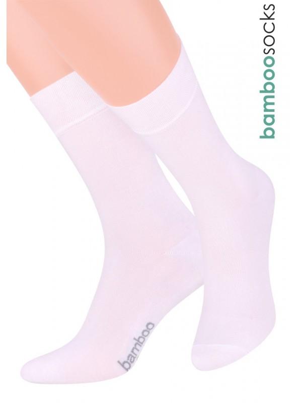 Dámské klasické ponožky 086 STEVEN   bílá   velkoobchod HOTEX