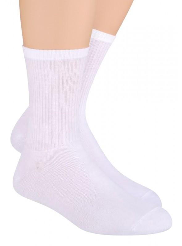 Pánské klasické ponožky 057 STEVEN   bílá   velkoobchod HOTEX