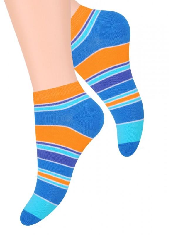 Dámské kotníkové ponožky vzor 052/11 STEVEN   modrá   velkoobchod HOTEX
