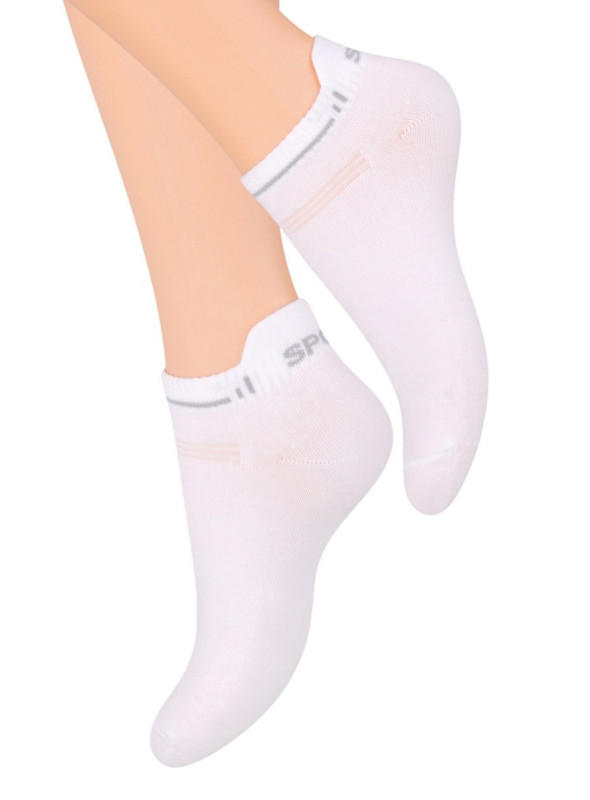 Dámské kotníkové ponožky 050 STEVEN | bílá | velkoobchod HOTEX