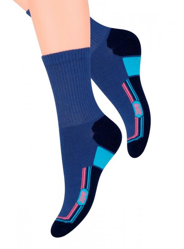 Dámské klasické ponožky 026/19 STEVEN | modrá tmavá | velkoobchod HOTEX