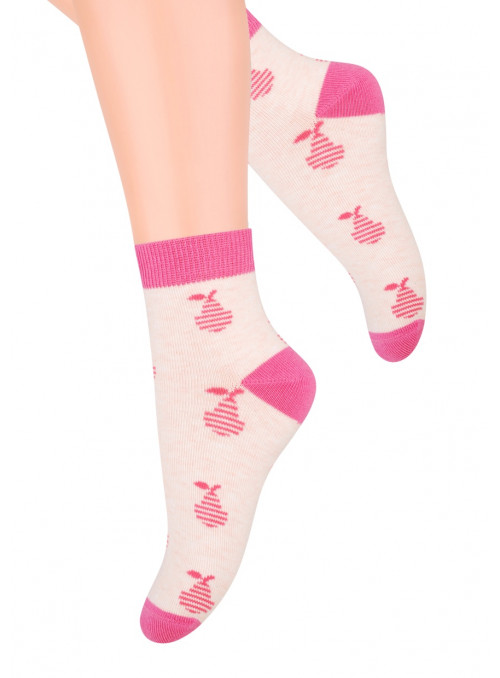 Dívčí kotníkové ponožky 004/8 STEVEN | velkoobchod HOTEX