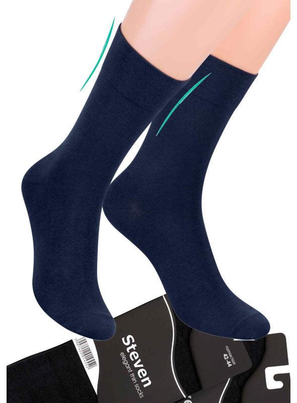 Pánské klasické ponožky 107 STEVEN | modrá tmavá | velkoobchod HOTEX