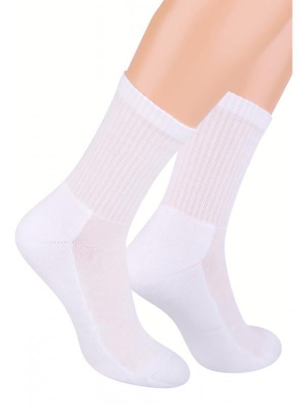 Pánské klasické ponožky 009 STEVEN | bílá | velkoobchod HOTEX