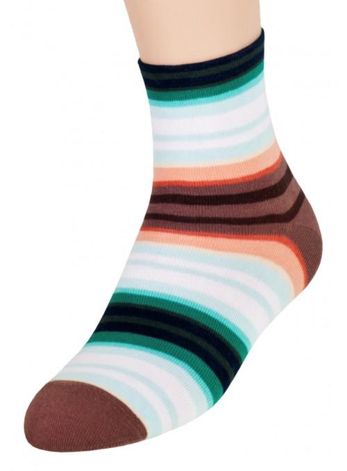 Dívčí klasické ponožky vzor 014/2 STEVEN | velkoobchod HOTEX