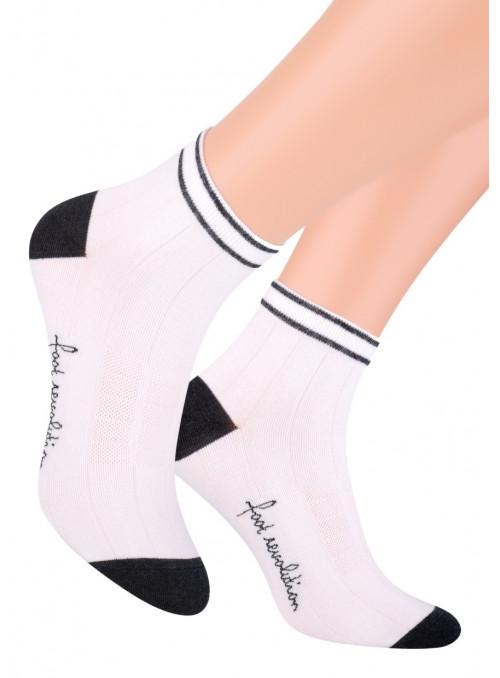 Chlapecké kotníkové ponožky 054/127 STEVEN | bílá | velkoobchod HOTEX