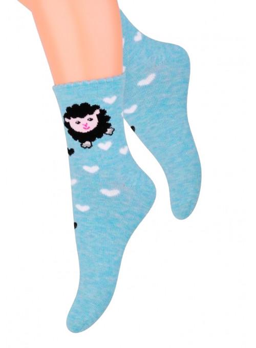 Dívčí klasické ponožky vzor 014/14 STEVEN   velkoobchod HOTEX