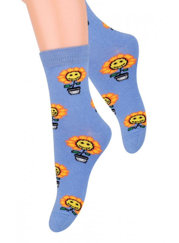 Dívčí klasické ponožky vzor 014/20 STEVEN   velkoobchod HOTEX