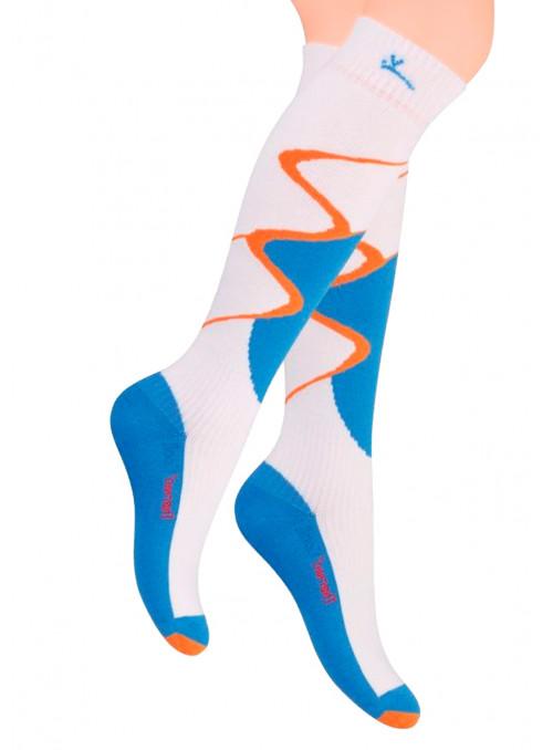 Pánské lyžařské teplé ponožky vzorované 010/1 STEVEN
