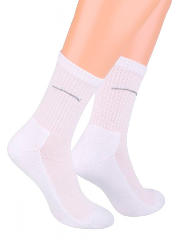 Pánské klasické ponožky 047 STEVEN | bílá | velkoobchod HOTEX