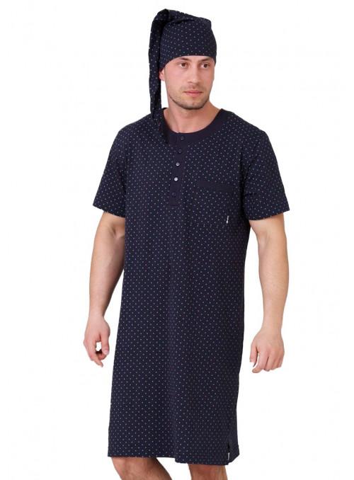 Pánská noční košile Hieronim 537 HOTBERG | velkoobchod HOTEX