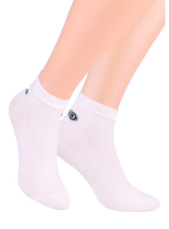Pánské kotníkové ponožky 046 STEVEN   bílá   velkoobchod HOTEX