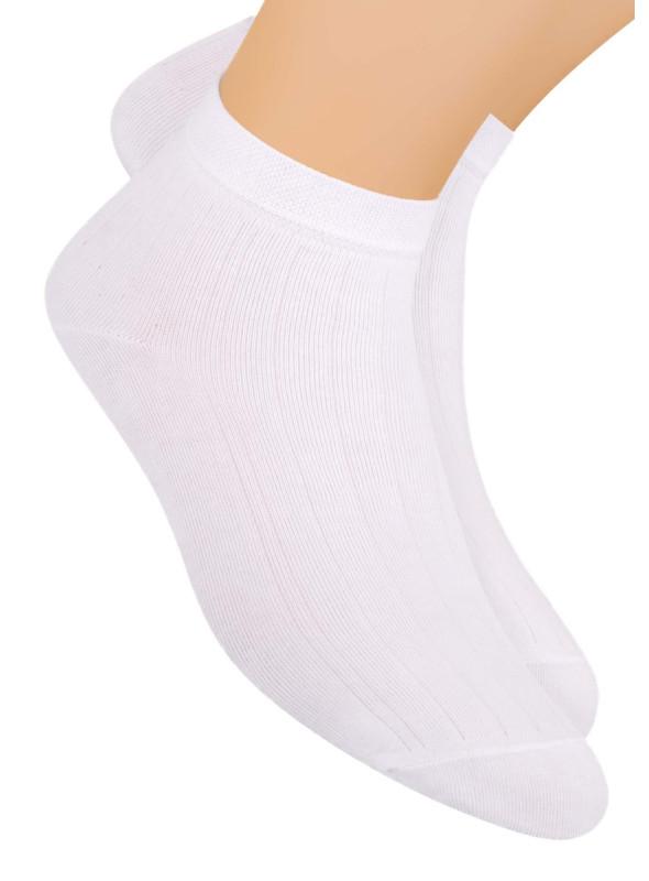 Pánské kotníkové ponožky 054 STEVEN | bílá | velkoobchod HOTEX