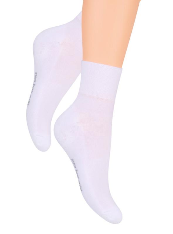 Pánské kotníkové ponožky 040 STEVEN | bílá | velkoobchod HOTEX