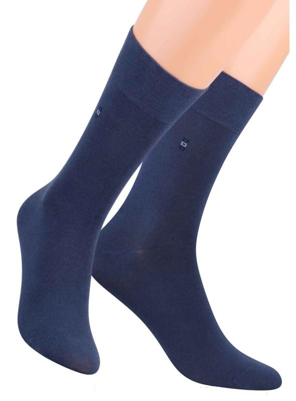 Pánské klasické ponožky 056/2 STEVEN | modrá | velkoobchod HOTEX