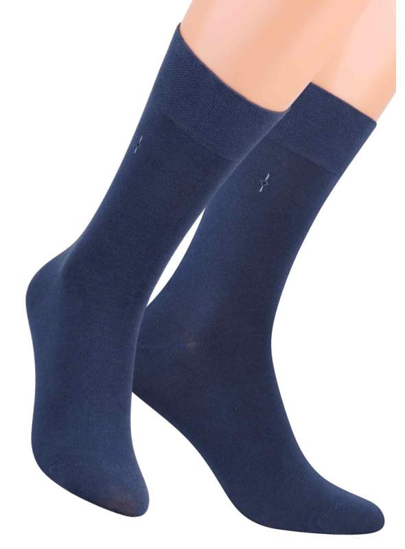 Pánské klasické ponožky 056/3 STEVEN | modrá | velkoobchod HOTEX